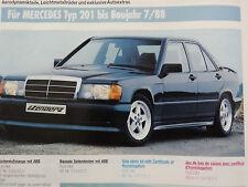 Mercedes W201 190E C Class GENUINE ZENDER SIDE SKIRTS to88 (Z5414.013) 190d