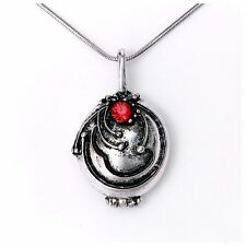 The Vampire Diaries Elena's Vervain Antique Silver Locket Vintage Look Necklace