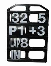 Race Pit Board 4 Row Lightweight Moulded Black Plastic With Number Set