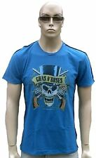 Amplified Guns N 'ROSES PIRATA SKULL Rock Star Vintage cuciture esterno T-Shirt G. M/L