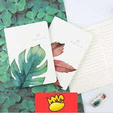 """""""One Leaf"""" Exercise Book A6 Pack of 4 Lined Notebook Pocket Journal Planner"""