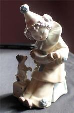 "Vintage LLADRO Figurine # 5279 ""Pierrot Concertina"" Clown With Puppy Dog"