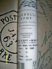 New York Magnolia Home Woodblock Print True Blue Wallpaper Me1568