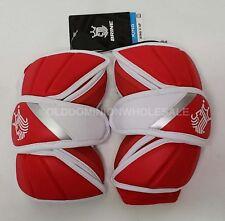 New Brine King V Medium Red & White Lacrosse Protective Arm Pads
