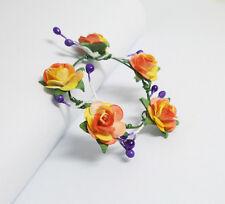 Handmade Flower Crown Headband Hair Accessories For Barbie Doll Ooak #42