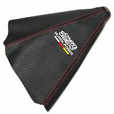 Mugen Red Stitch Black Carbon Fiber Retainer Shifter Shift Gear Knob Boot Cover