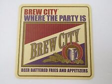 BEER COASTER: BREW CITY Brewing Co ~ San Francisco, CALIFORNIA From 1994-1997