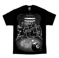 DGA David Gonzales Art Last Shot Skeleton Skull Tattoo Biker Mens Shirt M-5XL