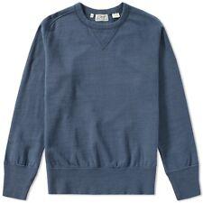 LVC Levis Vintage Clothing Bay Meadows Crew Felpa, Blu, L NUOVO CON ETICHETTA ridotto!