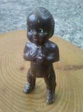 Antique Brown Frozen Charlotte Composition Doll