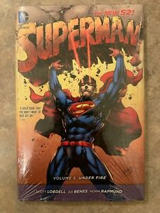 Superman New 52 Volume 5 Under Fire by Scott Lobdell (2015, Hardcover) DC