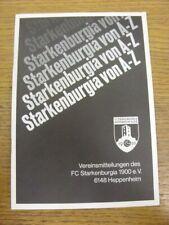 15/08/1982 Starkenburgia v VFR Oli Burstadt  .  Footy Progs offer this item with