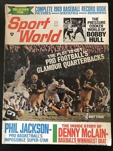 February 1969 Sport World Bart Starr Packers  Bobby Hull Gale Sayers No Label