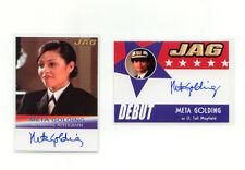 Jag 2006 Meta Golding Autograph Lot (2) A6 & D6 as Lt. Tali Mayfield