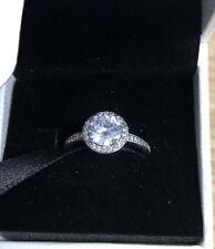 Pendientes de plata esterlina Diamante Anillo De Pandora 925 tamaño 54mm En Caja