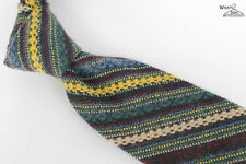 "NEW Piombo 100% Wool Unlined Multicolor 3.5"" Wide Tie"