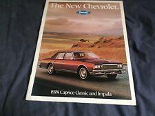 1978 Chevy Chevrolet Impala Caprice Brochure Catalog Prospekt