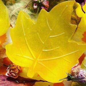 Autumn Leaf Handmade Organic Soap With Sweet Orange Essential Oil