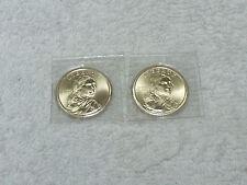 2009 P & D Satin Finish Sacagawea dollars Choice to Gem BU  in mint plastic