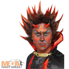 Spikey Red Devil Costume Parrucca Halloween Uomo Costume Outfit Accessorio Adulto