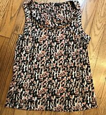 Ann Taylor Womens Sz 10 Multi Color Abstract Pattern Sleeveless Tank Top Blouse