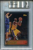 1996 Topps NBA at 50 Basketball #138 Kobe Bryant Rookie Card Graded BGS MINT 9