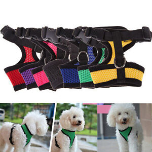 Pet Adjustable Control Harness Collar Safety Strap Mesh Vest For  Puppy Dog Soft