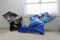 2004 - 2005 SUZUKI GSXR750 GSXR 750 RIGHT LEFT LOWER BOTTOM SIDE FAIRINGS OEM
