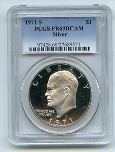 1971 S $1 Silver Ike Eisenhower Dollar Proof PCGS PR69DCAM