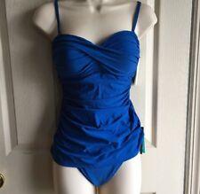 """4d8242758b7f8 Gottex Profile Blue Underwire Push-up """"36d"""" Bra 2-piece Swimsuit Size"""