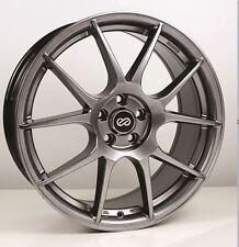 18x8 Enkei YS5 5x108 +45 Hyper Black Rims Fits Ford Taurus Sho Mercury
