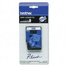 "Brother 3/8"" (9mm) White on Blue P-touch Tape for PT20, PT-20 Label Maker"