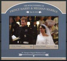 Union Isl Gren Vincent 2018 MNH Prince Harry Meghan Royal Wedding 2v S/S Stamps