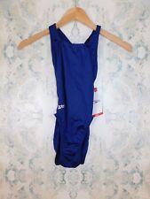 Speedo Racing Blue Learn To Swim Superpro One Piece Lycra Blend Swimsuit 26