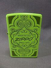 "Zippo  ""MADE IN USA"" Ornamente - NEON GELB - NEU & ovp - #755"