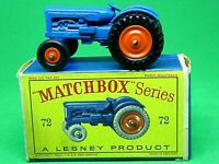 Matchbox Lesney No.72a Fordson Major Tractor In Type D2 Series Box (MINT MODEL)