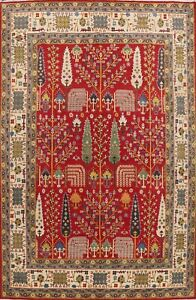 Vegetable Dye RED Tribal Super Kazak Oriental Area Rug Hand-knotted Classic 9x12