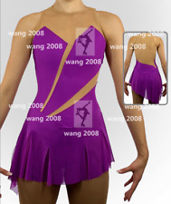 Figure Skating Dress Girls' Ice Skating Dress purple unJeweled Sleeveless