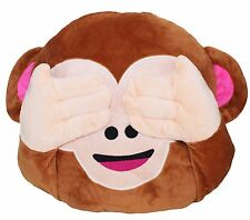 Big Adorable 3D Wise No Look Monkey Pillow Stuffed Animal Cushion Gift Decor
