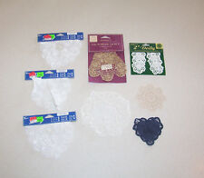 Lot of 8 Doilies Assorted Sizes, Colors & Shapes