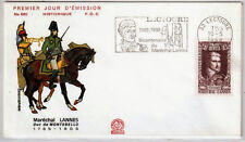 FRANCE FDC - 688 1593 3 MARECHAL LANNES - flamme 10 Mai 1969