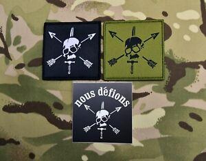 Special Forces Woven Patch & Sticker Set SFARTAETC Nous Defions CIF Green Beret