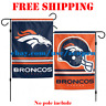 "Denver Broncos Logo Garden Outdoor Flag Double Sides 12x18"" NFL 2019 Fan NEW"