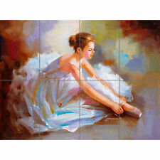 Ballet Dancing Shoes Painting XL Giant Panel Poster (8 Sections)