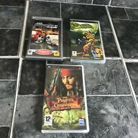 Midnight Club 3, Pirates Of The Caribbean & Daxter - PSP Playstation - Complete
