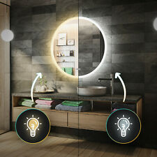 LED Illuminated Bathroom Mirror with Touch Switch Light up Modern | L76