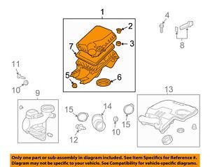 GM OEM Air Cleaner Intake-Filter Box Housing 25842735