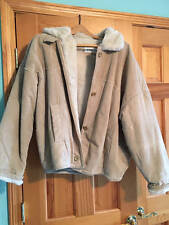 Vintage Jones New York Women's Suede Jacket Sz. M Faux Fur