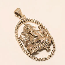 .925 Sterling Silver 8 Gm Lord Ganesha Pendent Relogious Jewelry Unisex Jewelry