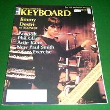 1980 Keyboard Magazine: Jimmy Destri Blondie, KORG ES-50, Artie Kane, Phil Glass